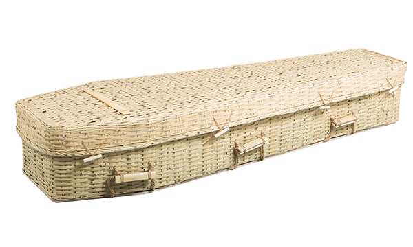 ash brook funerals woven bamboo coffin