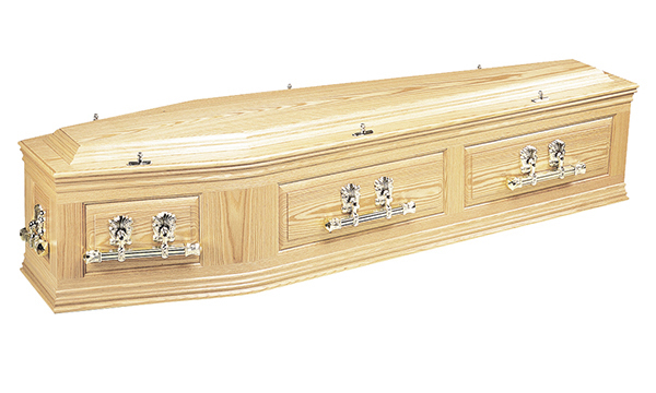 ash brook funerals Cavendish Solid Oak coffin