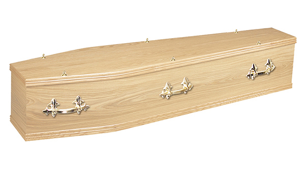 ash brook funerals Chiltern Oak Veneered coffin