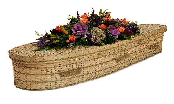 ash brook funerals Natural Bamboo Teardrop coffin