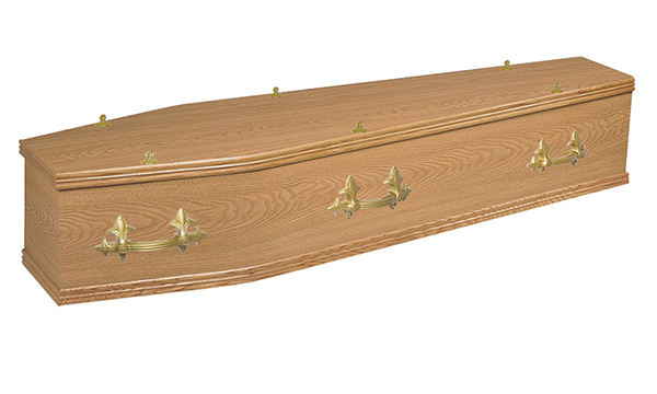 ash brook funerals Rookwood Oak Veneered coffin